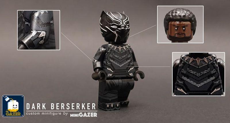 Dark Berserker miniGAZER Custom Minifigure
