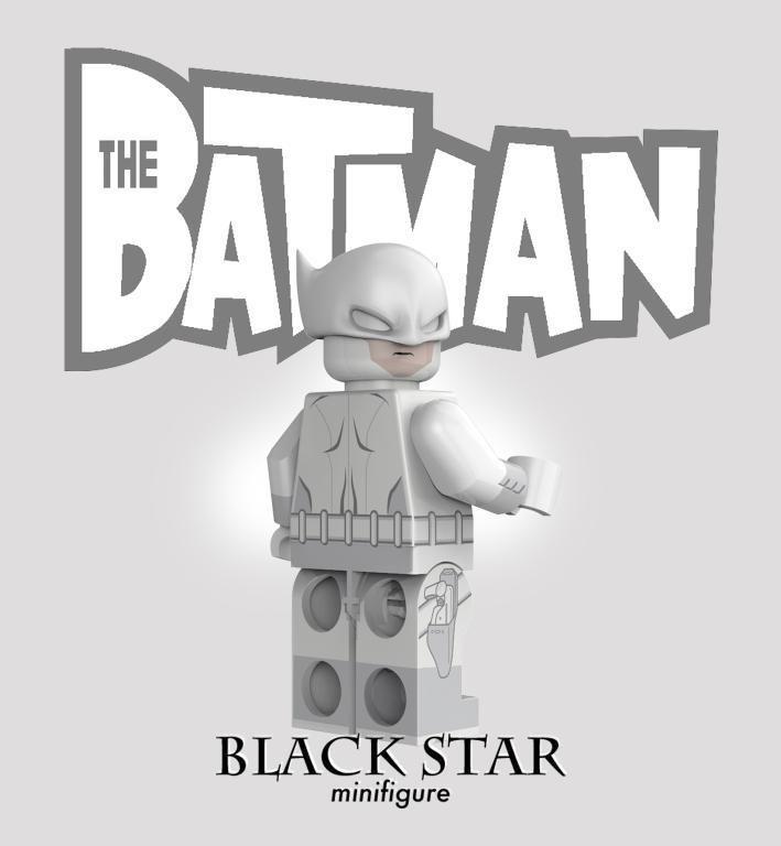Anti-Freeze Knight Black Star Custom Minifigure