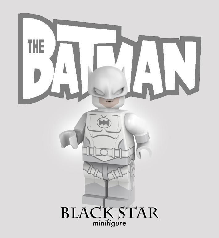Anti-Freeze Knight Black Star Custom Minifigure