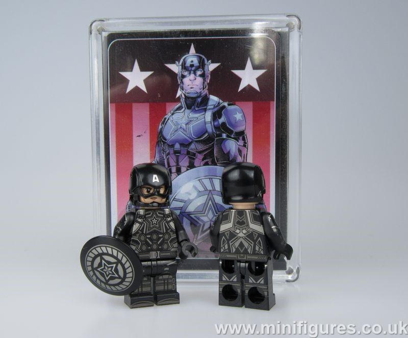 Black Captain CrazyMinifigs Custom Minifigure