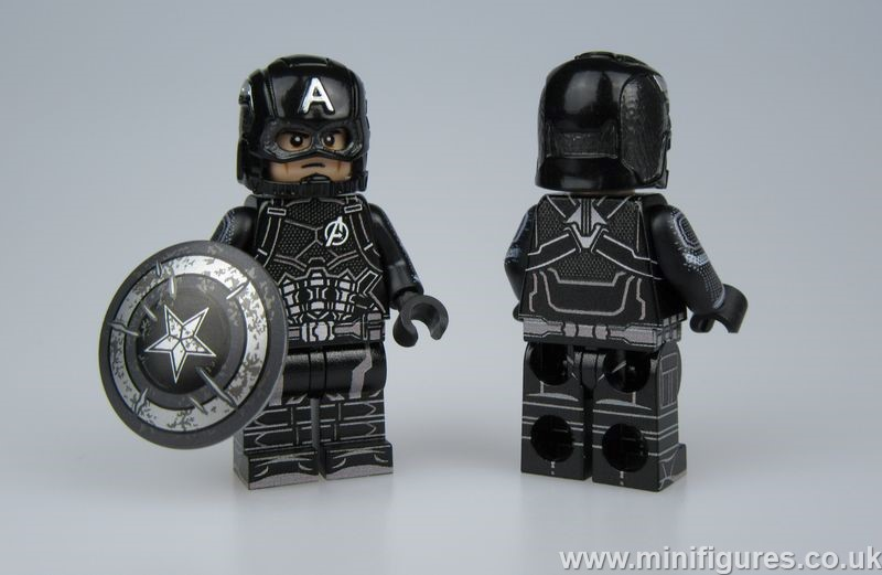 Cap Black Uniform LeYiLeBrick Custom Minifigure