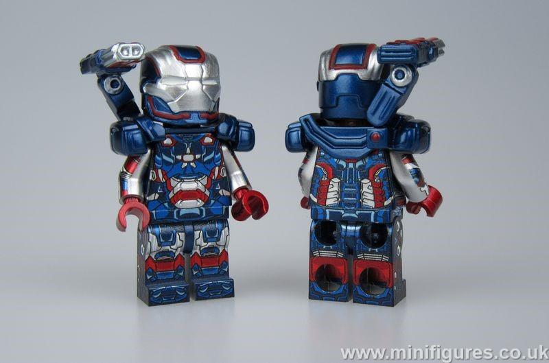Iron Patriot LeYiLeBrick Custom Minifigure