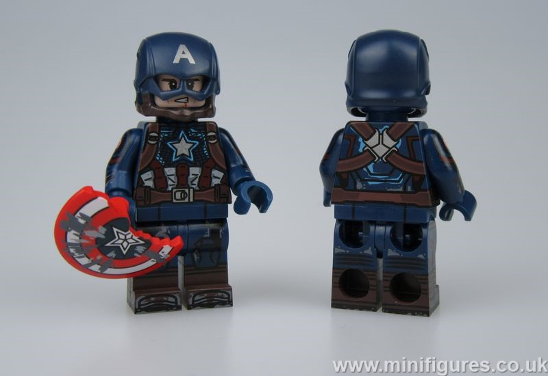 Damaged Captain America DB x OB Custom Minifigure