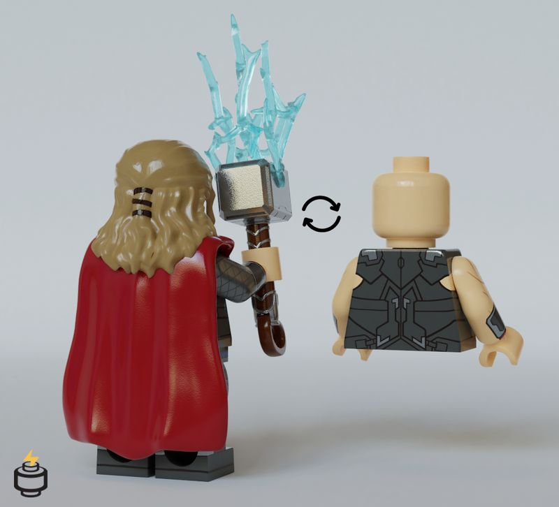 Thor AOU Jaka Brick Custom Minifigure