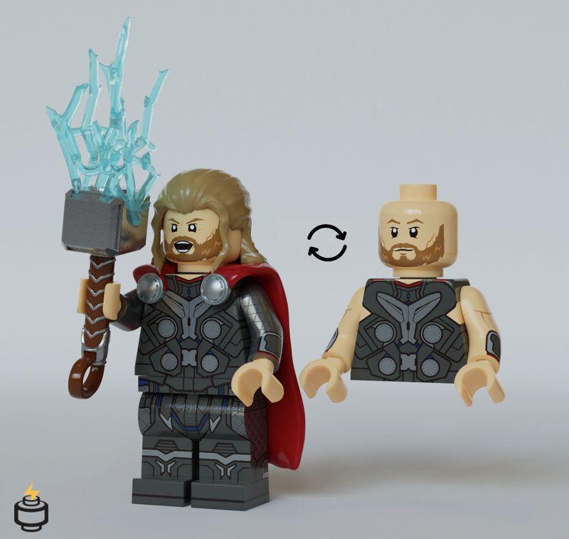 Thor Jaka Brick Custom Minifigure
