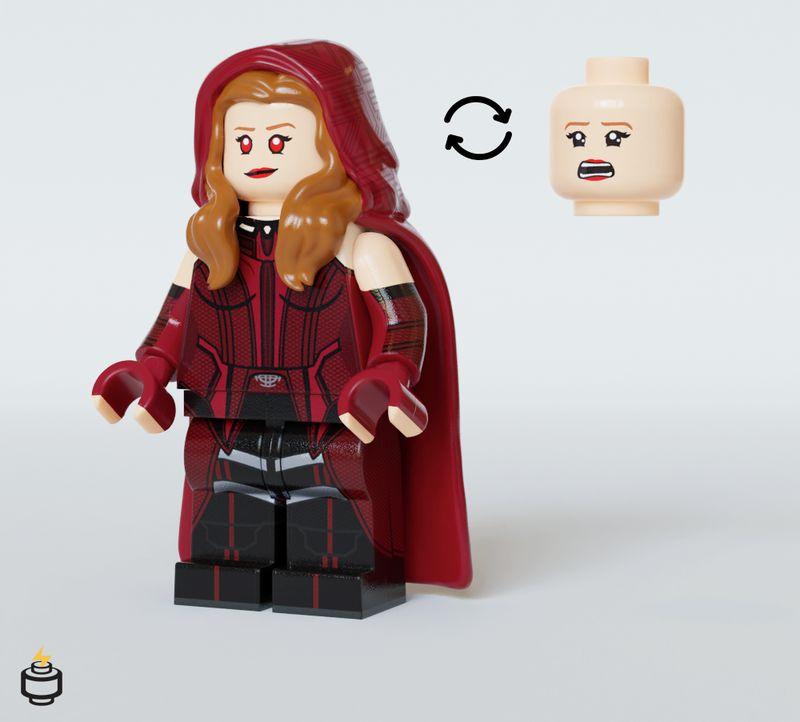 Scarlet Witch Jaka Brick Custom Minifigure