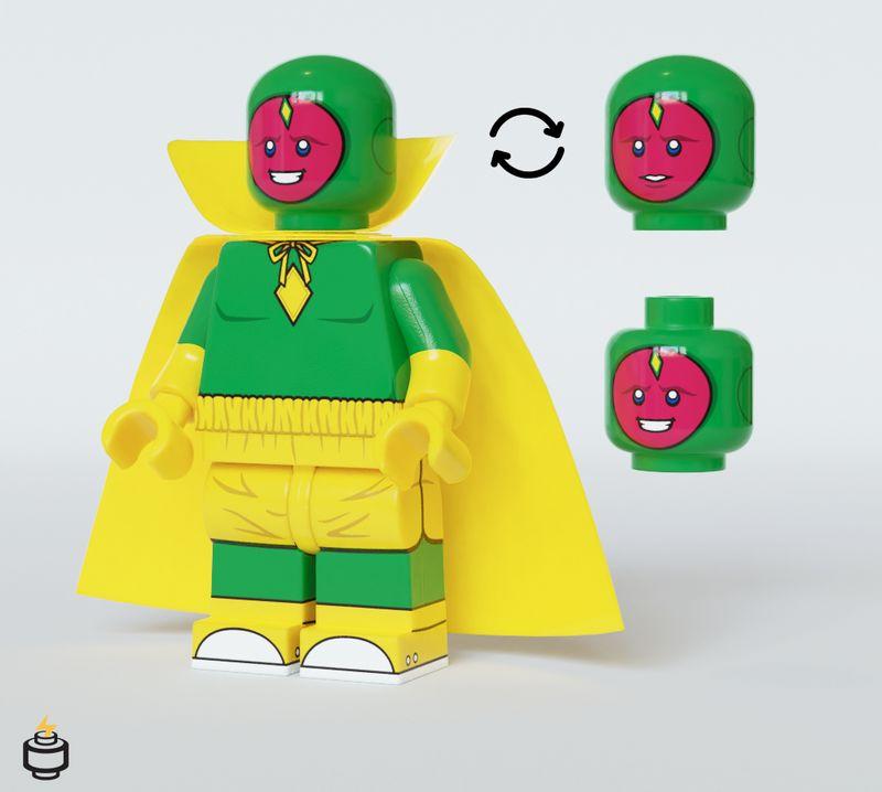 Wanda & Vision Jaka Brick Halloween Set