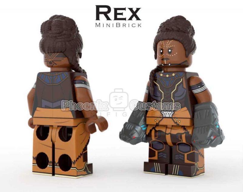 Warrior Princess PC x Rex MiniBrick Custom Minifigure