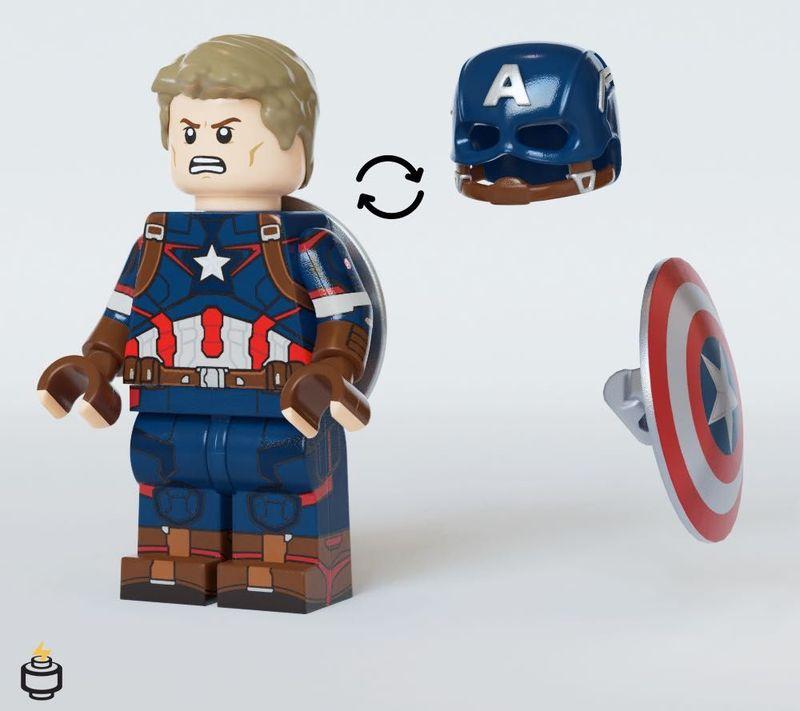 Captain America AOU Jaka Brick Custom Minifigure