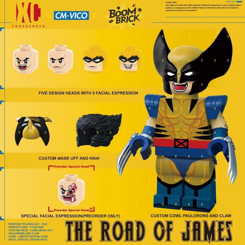 X-James DX BoomBrick x CrossCheck Figure x Vico Custom Minifigure