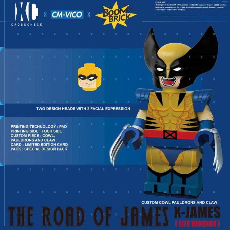 X-James Lite BoomBrick x CrossCheck Figure x Vico Custom Minifigure