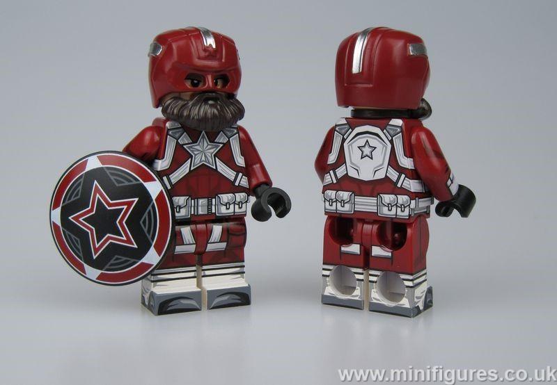 Red Guardian LeYiLeBrick Custom Minifigure