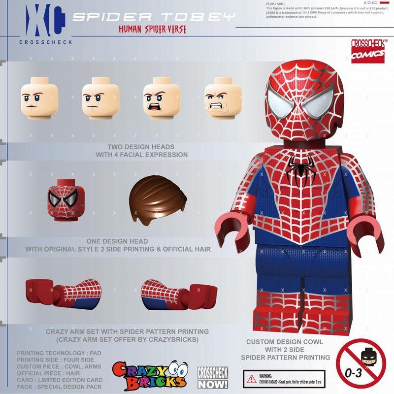Spider Tobey XC Custom Minifigure