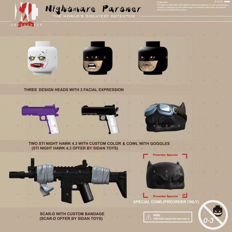 Nightmare Partner Knight & Joker XC Custom Minifigures
