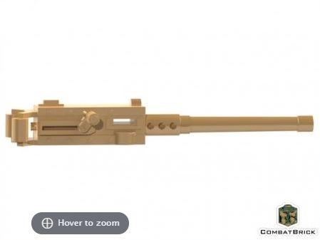 CombatBrick Browning M2 M2HB Ma Deuce .50 Caliber Heavy Machine Gun Dark Tan