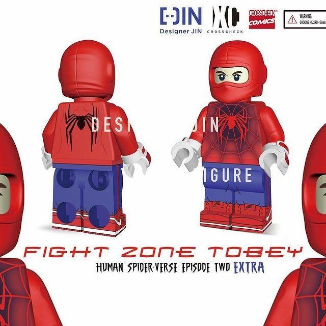 Fight Zone Toby XC x Jin Human Custom Minifigure