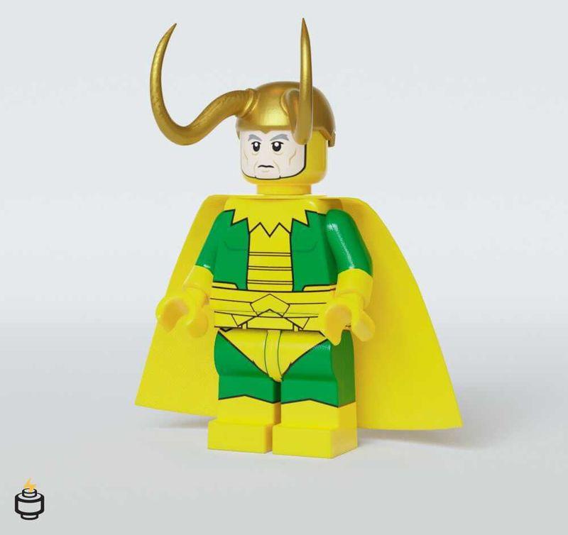 Classic Loki Jaka Brick Custom Minifigure
